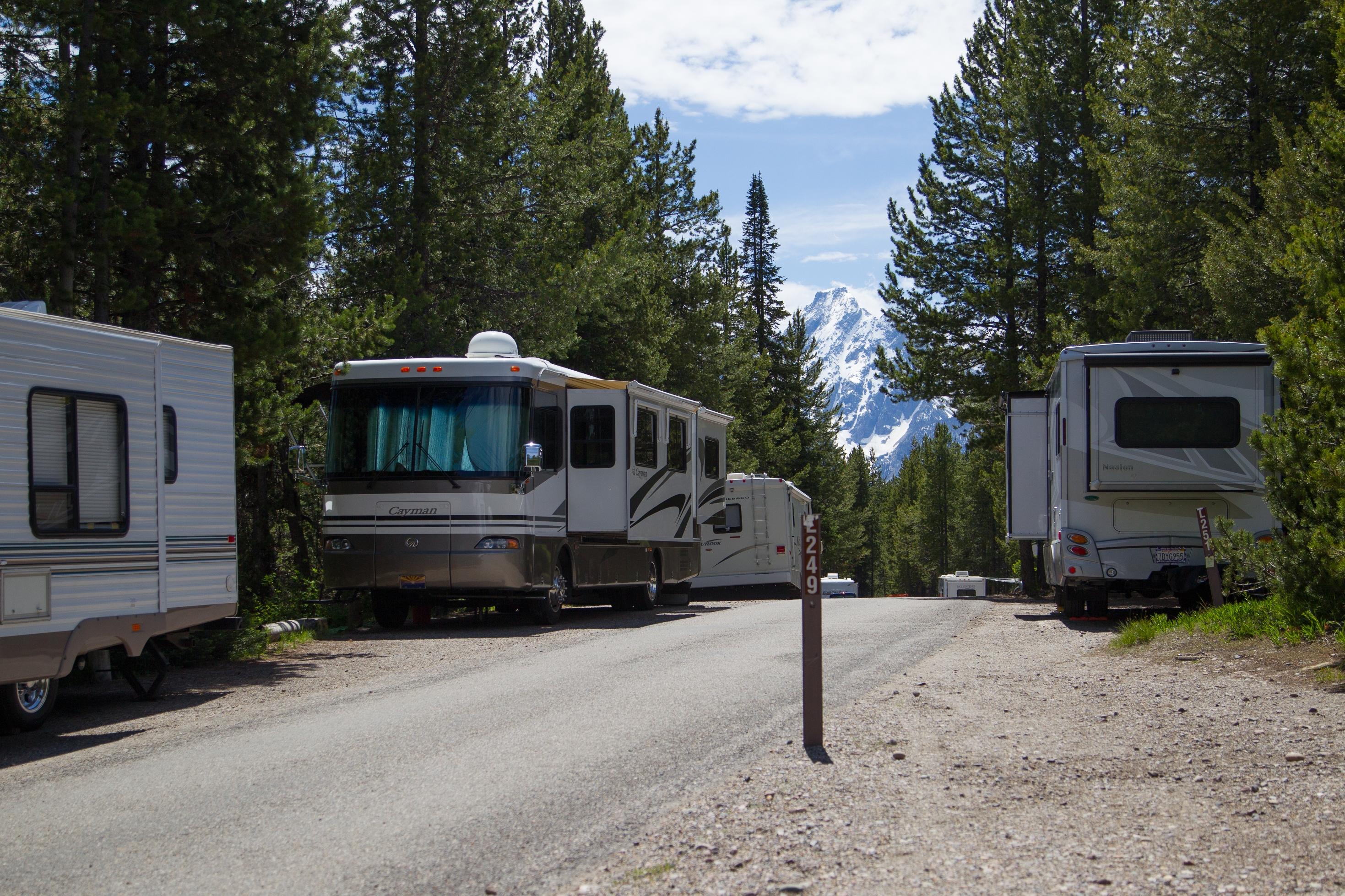 Rv Camping In Grand Teton