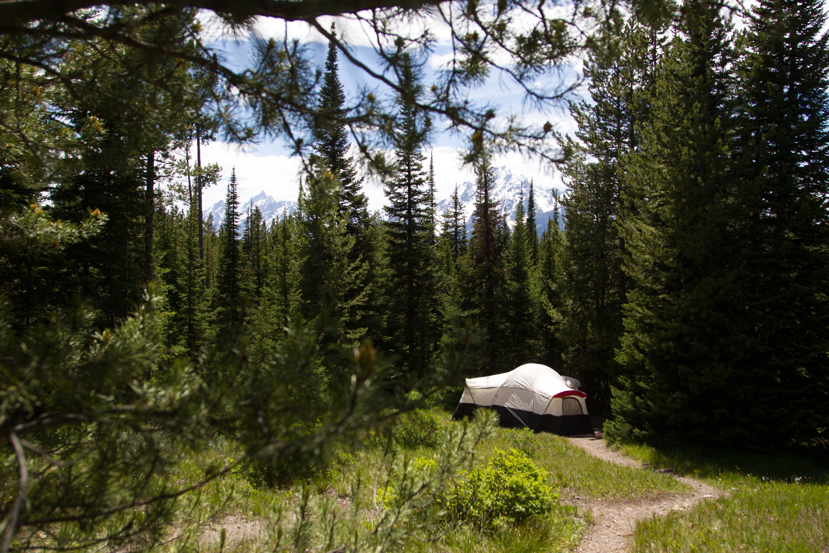 Camping In Grand Teton